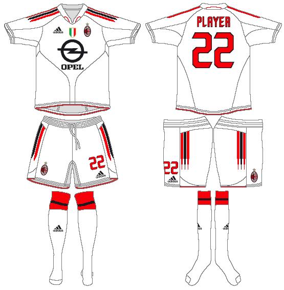 AC Milan Uniform Road Uniform (2004-2005) -  SportsLogos.Net