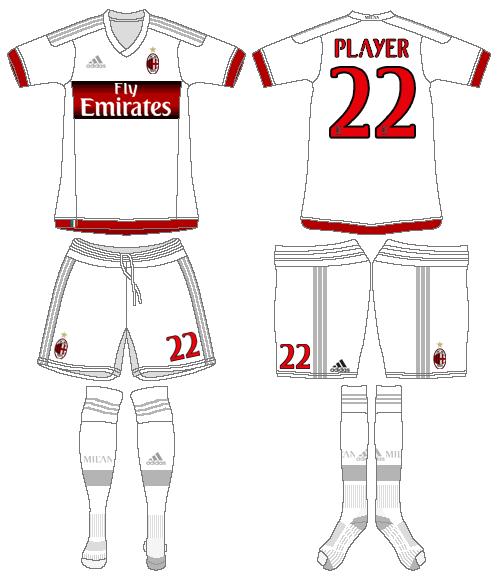 AC Milan Uniform Road Uniform (2015-2016) -  SportsLogos.Net