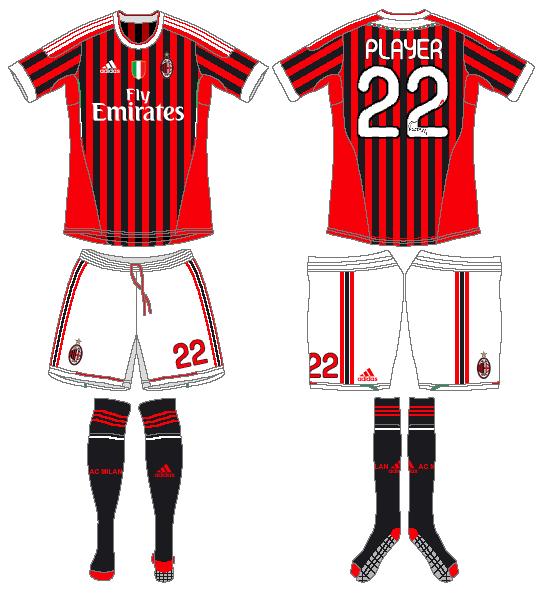 AC Milan Uniform Home Uniform (2011-2012) -  SportsLogos.Net