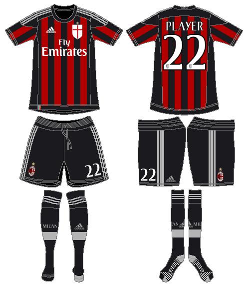 AC Milan Uniform Home Uniform (2015-2016) -  SportsLogos.Net