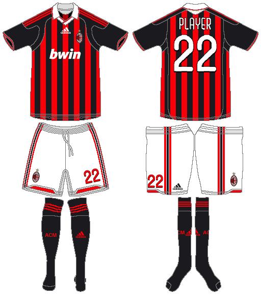 AC Milan Uniform Home Uniform (2009-2010) -  SportsLogos.Net