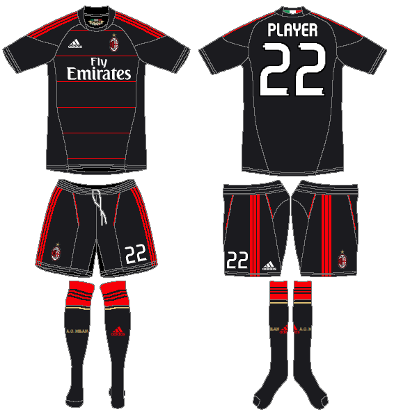 AC Milan Uniform Alternate Uniform (2010-2011) -  SportsLogos.Net