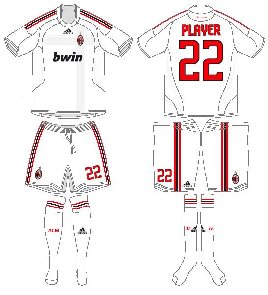 AC Milan Uniform Road Uniform (2008-2009) -  SportsLogos.Net