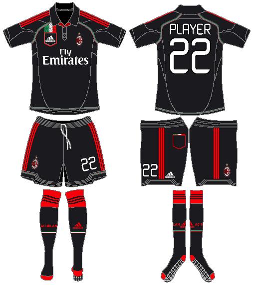 AC Milan Uniform Alternate Uniform (2012-2013) -  SportsLogos.Net