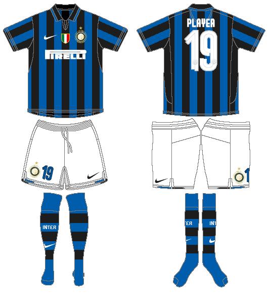 Internazionale Milan Uniform Home Uniform (2007-2008) -  SportsLogos.Net