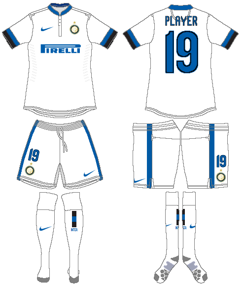 Internazionale Milan Uniform Road Uniform (2013-2014) -  SportsLogos.Net