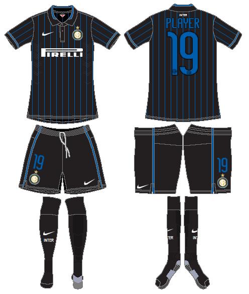 Internazionale Milan Uniform Home Uniform (2014-2015) -  SportsLogos.Net