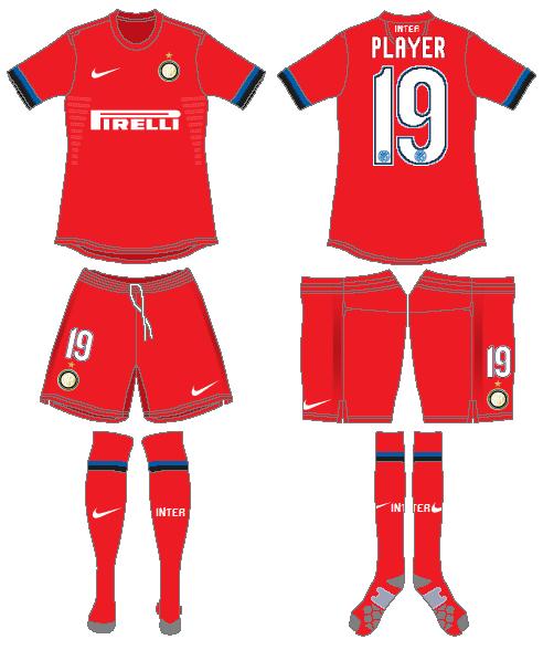 Internazionale Milan Uniform Road Uniform (2012-2013) -  SportsLogos.Net