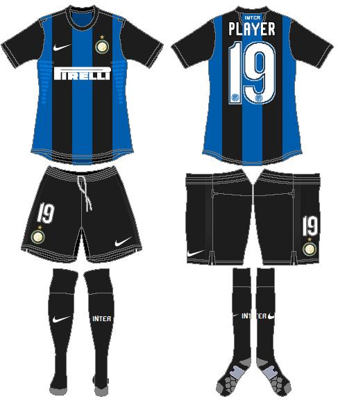 Internazionale Milan Uniform Home Uniform (2012-2013) -  SportsLogos.Net