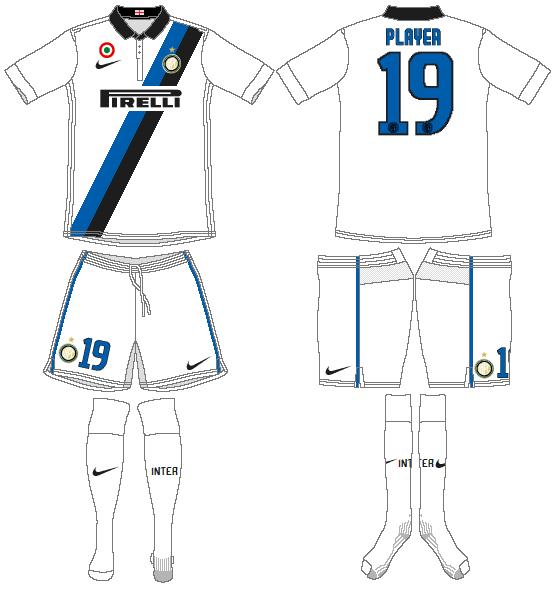 Internazionale Milan Uniform Road Uniform (2011-2012) -  SportsLogos.Net