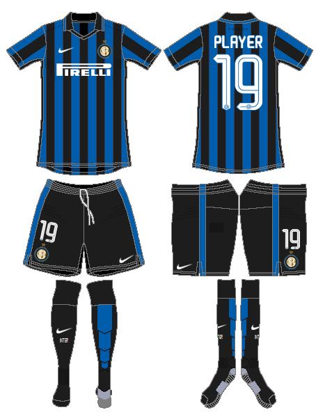Internazionale Milan Uniform Home Uniform (2015-2016) -  SportsLogos.Net