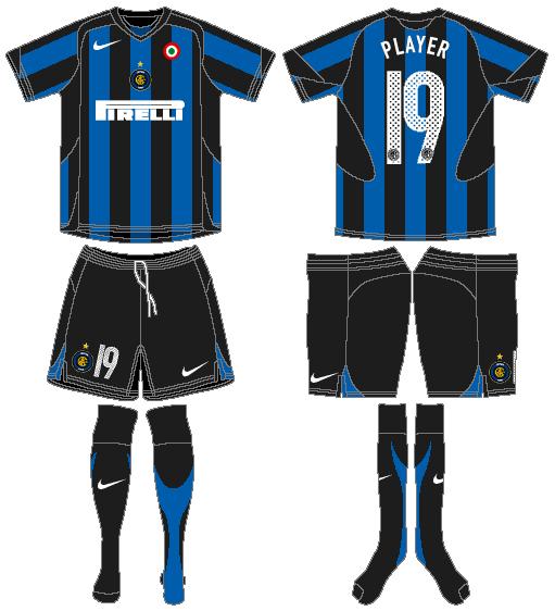 Internazionale Milan Uniform Home Uniform (2005-2006) -  SportsLogos.Net