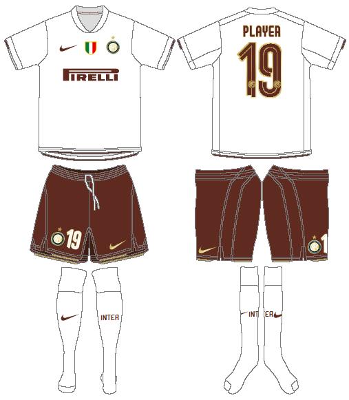 Internazionale Milan Uniform Road Uniform (2008-2009) -  SportsLogos.Net