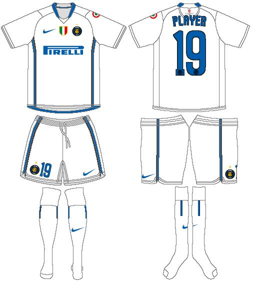 Internazionale Milan Uniform Road Uniform (2006-2007) -  SportsLogos.Net