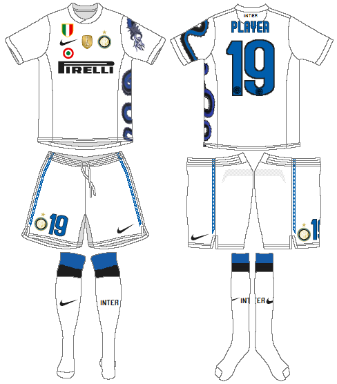 Internazionale Milan Uniform Road Uniform (2010-2011) -  SportsLogos.Net