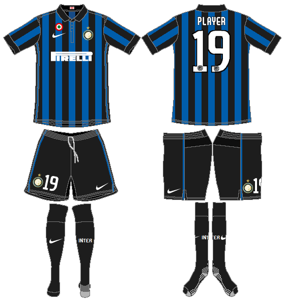 Internazionale Milan Uniform Home Uniform (2011-2012) -  SportsLogos.Net