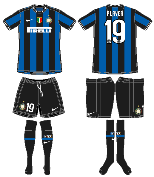 Internazionale Milan Uniform Home Uniform (2009-2010) -  SportsLogos.Net