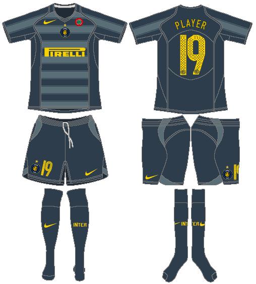 Internazionale Milan Uniform Alternate Uniform (2005-2006) -  SportsLogos.Net
