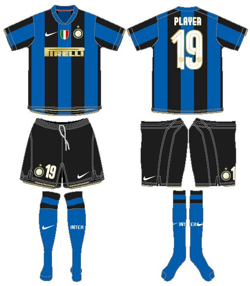 Internazionale Milan Uniform Home Uniform (2008-2009) -  SportsLogos.Net