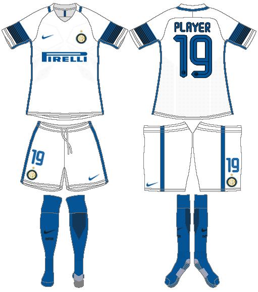 Internazionale Milan Uniform Road Uniform (2016-2017) -  SportsLogos.Net