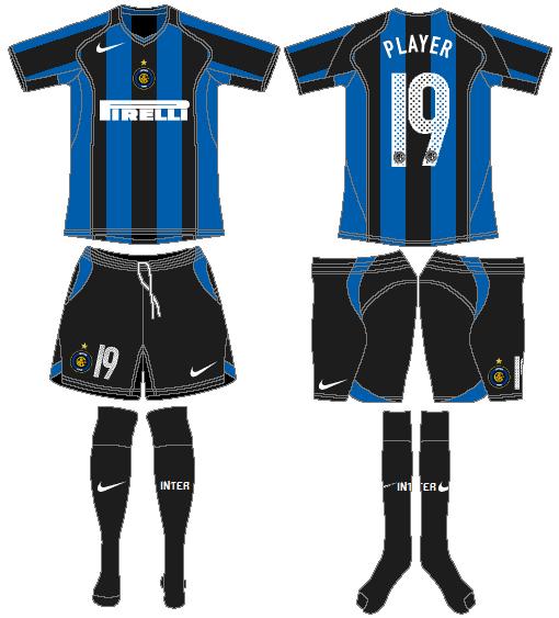Internazionale Milan Uniform Home Uniform (2004-2005) -  SportsLogos.Net