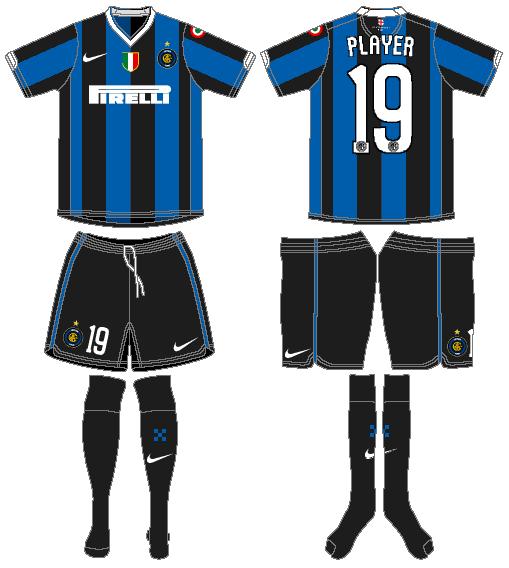 Internazionale Milan Uniform Home Uniform (2006-2007) -  SportsLogos.Net