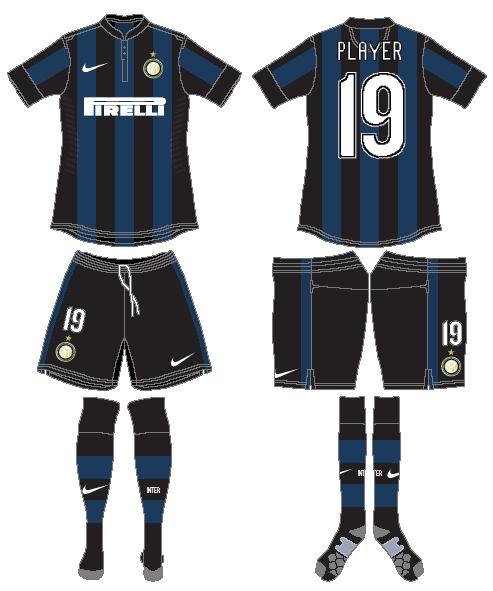 Internazionale Milan Uniform Home Uniform (2013-2014) -  SportsLogos.Net