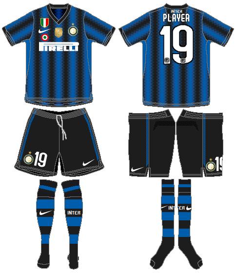 Internazionale Milan Uniform Home Uniform (2010-2011) -  SportsLogos.Net