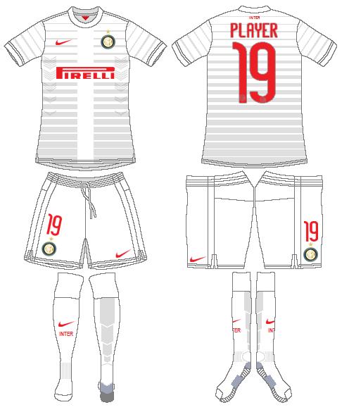 Internazionale Milan Uniform Road Uniform (2014-2015) -  SportsLogos.Net