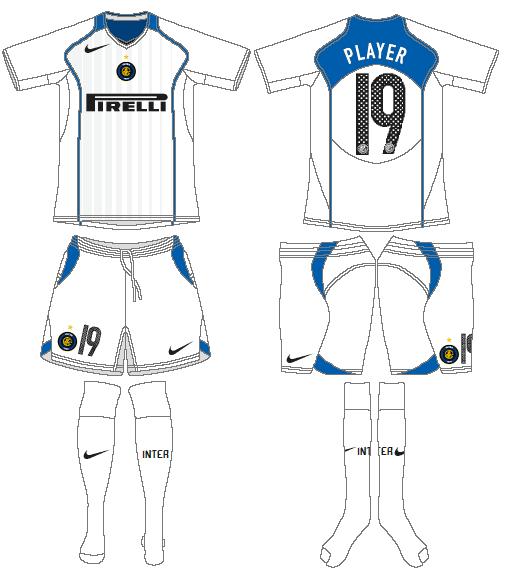 Internazionale Milan Uniform Road Uniform (2004-2005) -  SportsLogos.Net