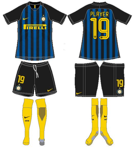 Internazionale Milan Uniform Home Uniform (2016-2017) -  SportsLogos.Net
