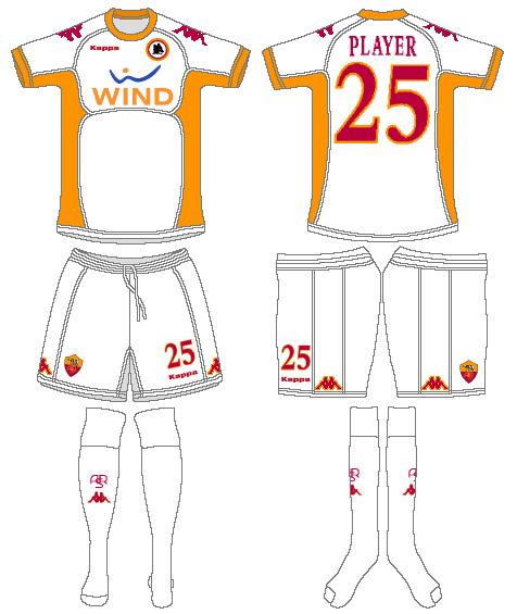 AS Roma Uniform Road Uniform (2010-2011) -  SportsLogos.Net