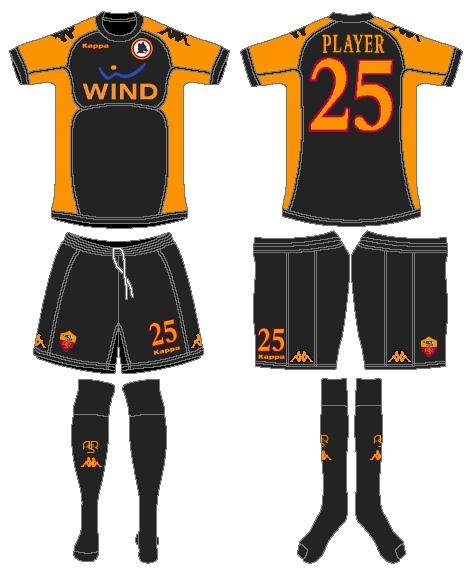 AS Roma Uniform Alternate Uniform (2010-2011) -  SportsLogos.Net