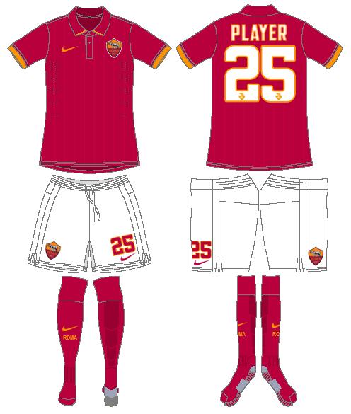 AS Roma Uniform Home Uniform (2014-2015) -  SportsLogos.Net