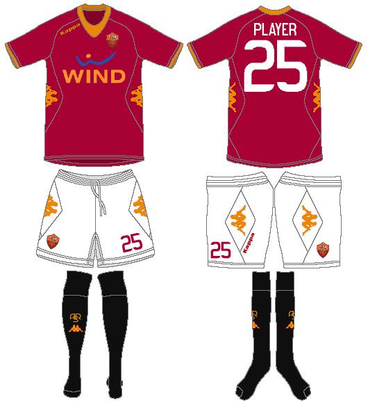 AS Roma Uniform Home Uniform (2011-2012) -  SportsLogos.Net