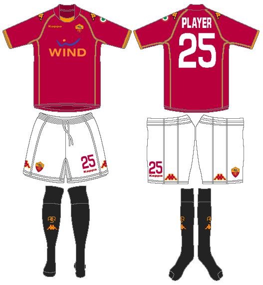 AS Roma Uniform Home Uniform (2008-2009) -  SportsLogos.Net