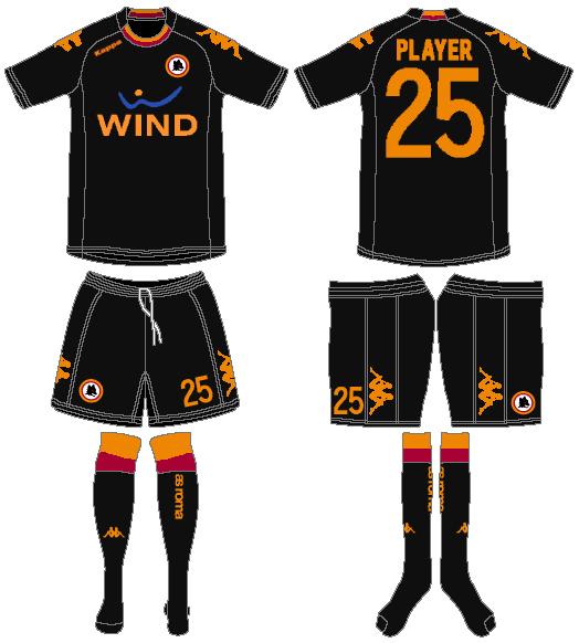 AS Roma Uniform Alternate Uniform (2012-2013) -  SportsLogos.Net