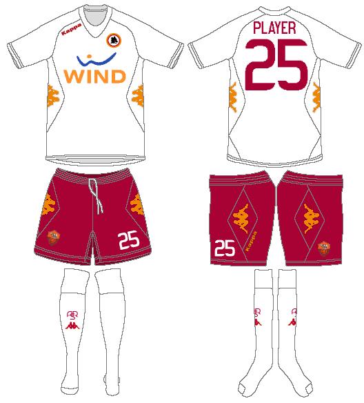 AS Roma Uniform Road Uniform (2011-2012) -  SportsLogos.Net