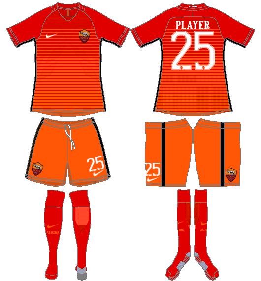 AS Roma Uniform Alternate Uniform (2016-2017) -  SportsLogos.Net
