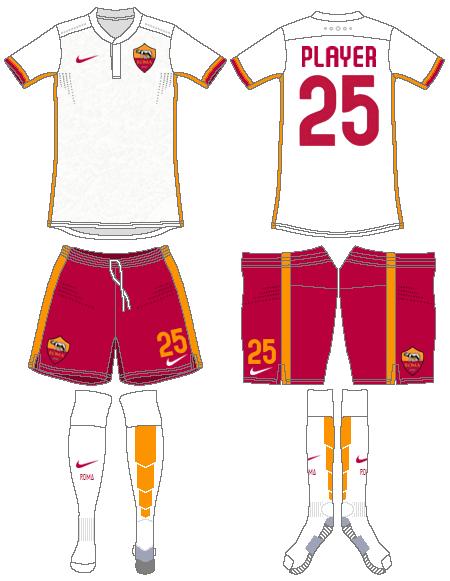 AS Roma Uniform Road Uniform (2015-2016) -  SportsLogos.Net