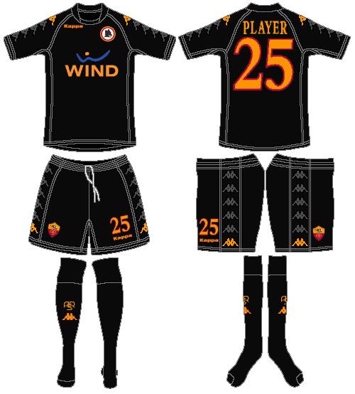 AS Roma Uniform Alternate Uniform (2009-2010) -  SportsLogos.Net