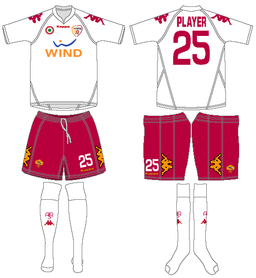 AS Roma Uniform Road Uniform (2007-2008) -  SportsLogos.Net