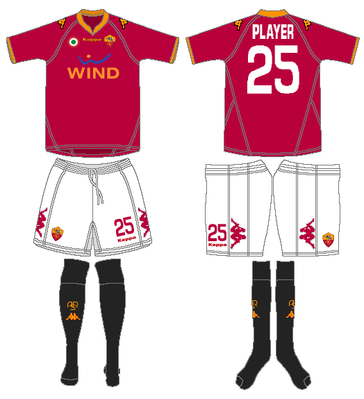 AS Roma Uniform Home Uniform (2007-2008) -  SportsLogos.Net