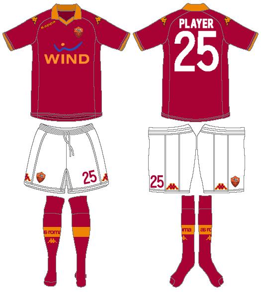 AS Roma Uniform Home Uniform (2012-2013) -  SportsLogos.Net