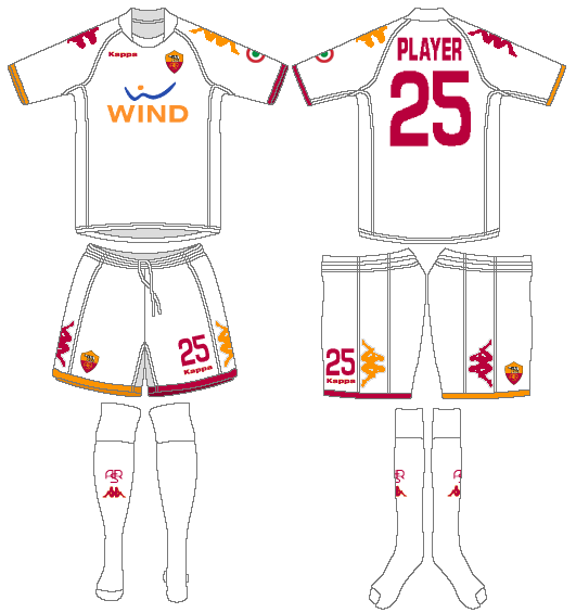 AS Roma Uniform Road Uniform (2008-2009) -  SportsLogos.Net