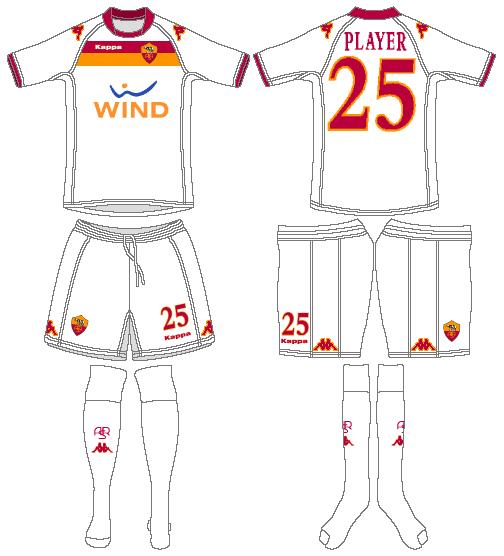 AS Roma Uniform Road Uniform (2009-2010) -  SportsLogos.Net