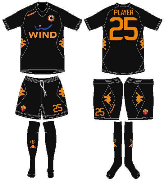 AS Roma Uniform Alternate Uniform (2011-2012) -  SportsLogos.Net