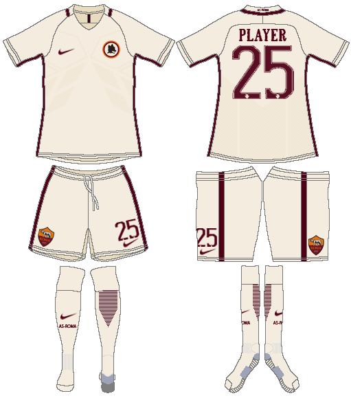 AS Roma Uniform Road Uniform (2016-2017) -  SportsLogos.Net