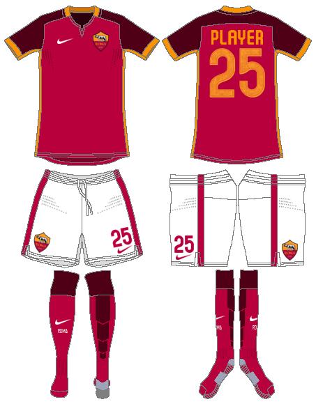 AS Roma Uniform Home Uniform (2015-2016) -  SportsLogos.Net