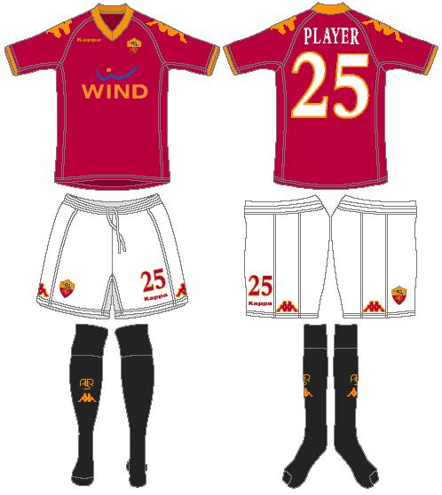 AS Roma Uniform Home Uniform (2009-2010) -  SportsLogos.Net